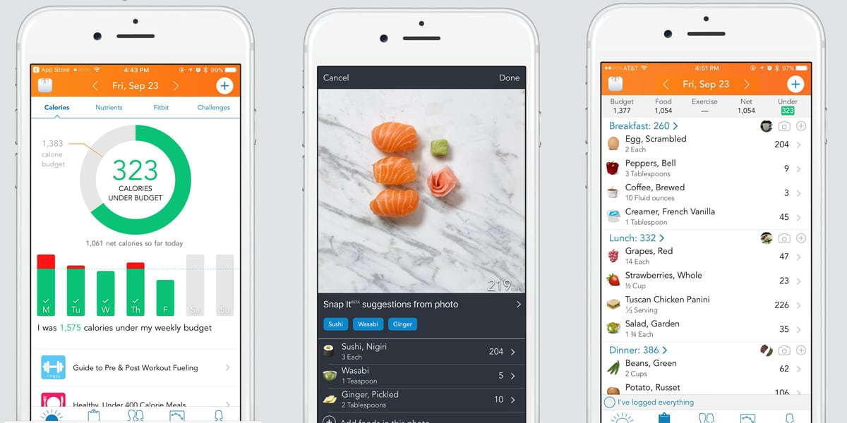contador calorias alimentos apps loseit