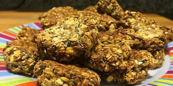 receta galletas avena chia lino platano