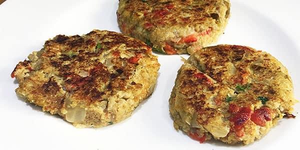 receta hamburguesas berenjena
