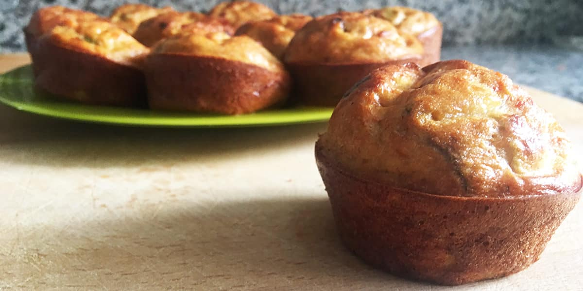 receta muffins salados fit calabacin zanahoria