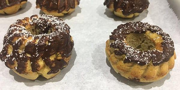 receta donetes fit platano coco chocolate
