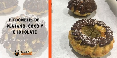 receta donetes fit platano coco chocolate