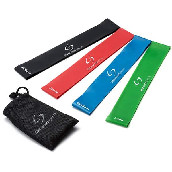 mejores accesorios gimnasio en casa bandas elasticas resistencia starwood sports