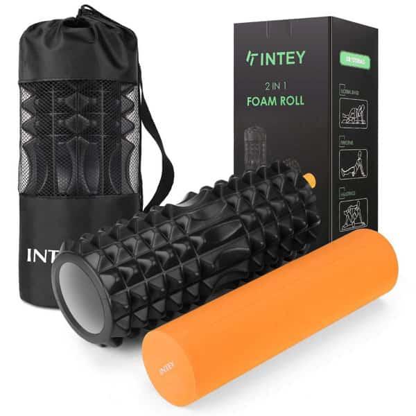 mejores accesorios gimnasio en casa foam roll rodillo intey