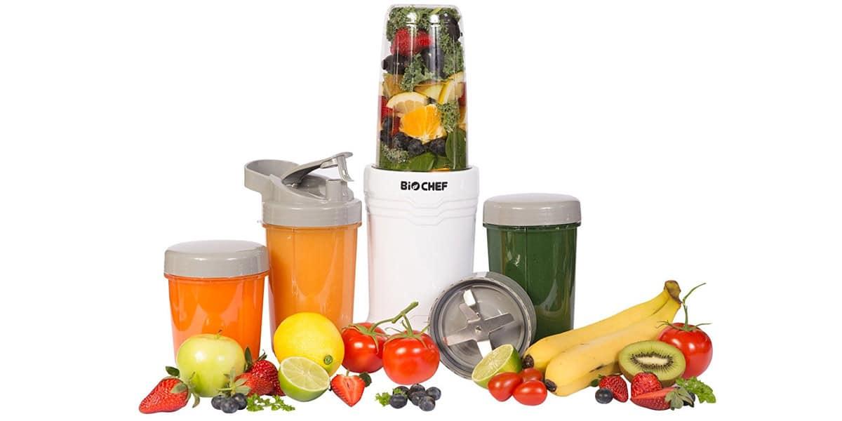 smoohies batidos frutas verduras maquinas batidoras licuadoras biochef nutriboost bullet blender