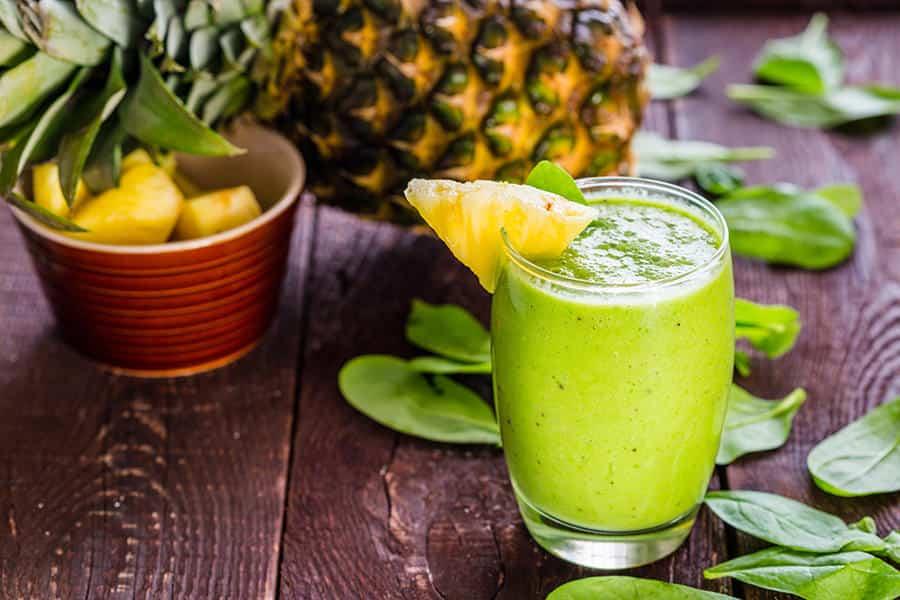 smoohies batidos frutas verduras receta batido verde tropical