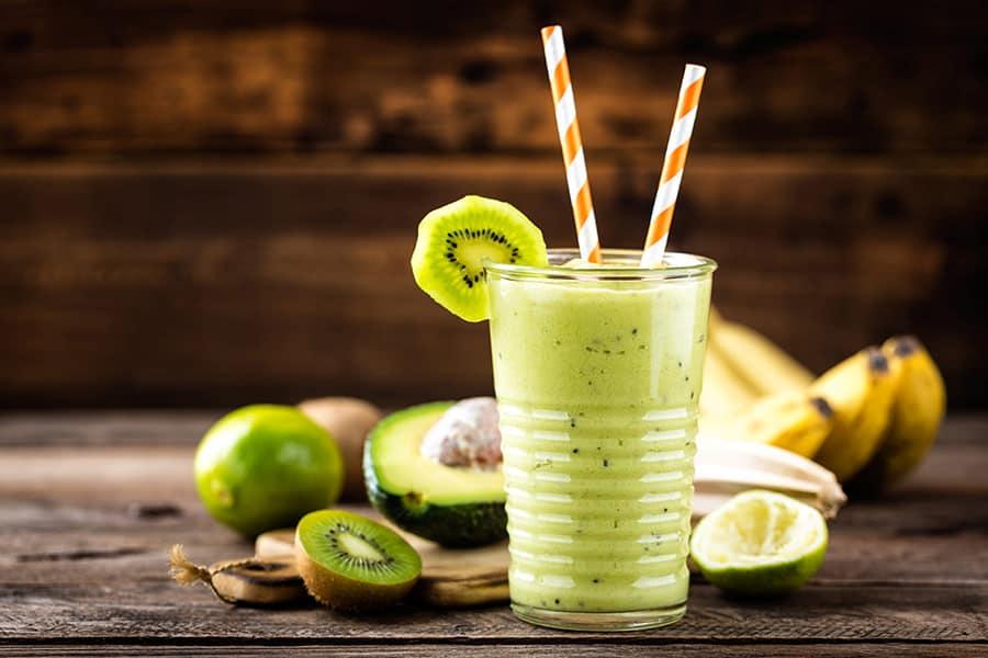 smoohies batidos frutas verduras receta green smoothie kiwi