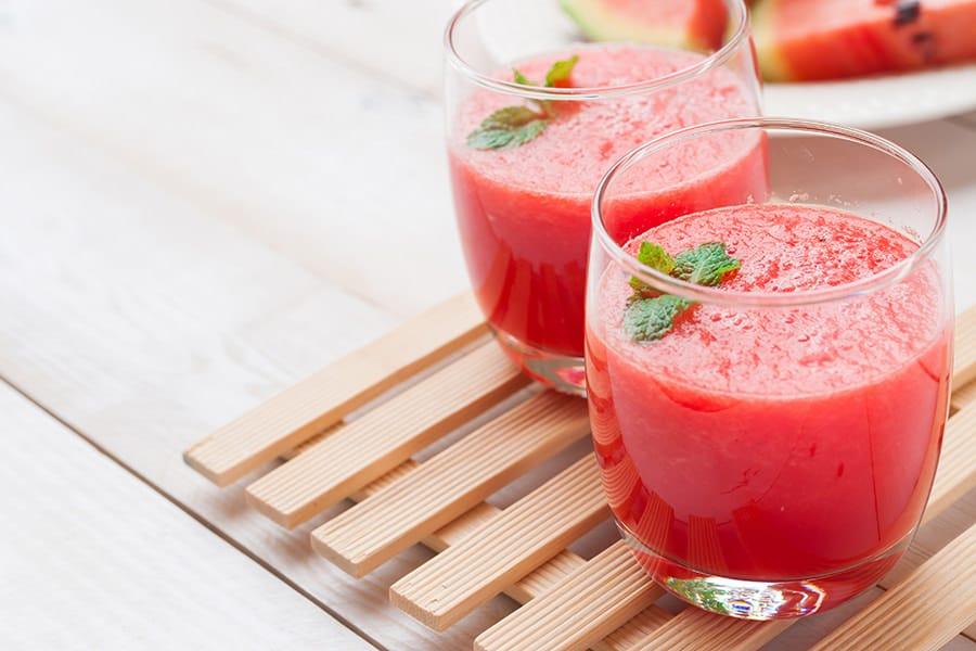 smoohies batidos frutas verduras receta smoothie sandia menta