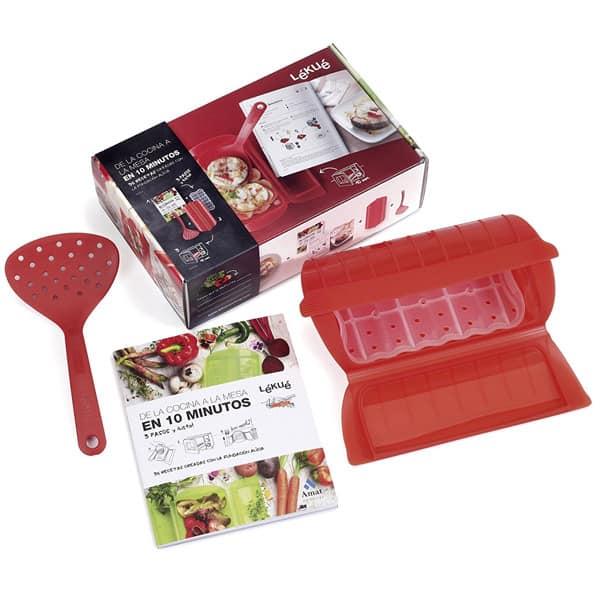 mejores productos utensilios cocina estuche vapor vaporera lekue