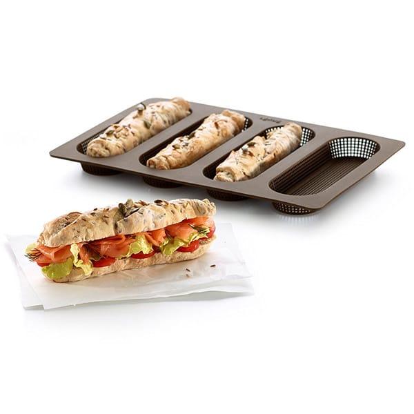 mejores productos utensilios cocina molde silicona pan mini baguettes lekue