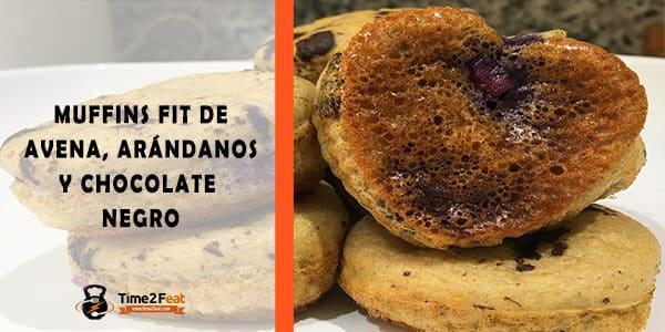 receta muffins fit avena arandanos chocolate