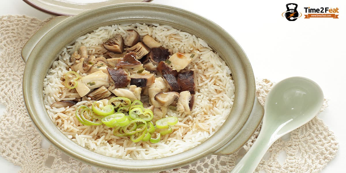 cenas ligeras rapidas saludables recetas arroz setas shitake