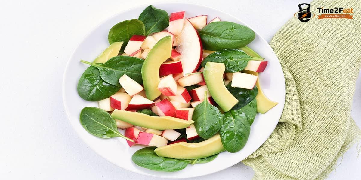 cenas ligeras rapidas saludables recetas ensalada manzana aguacate