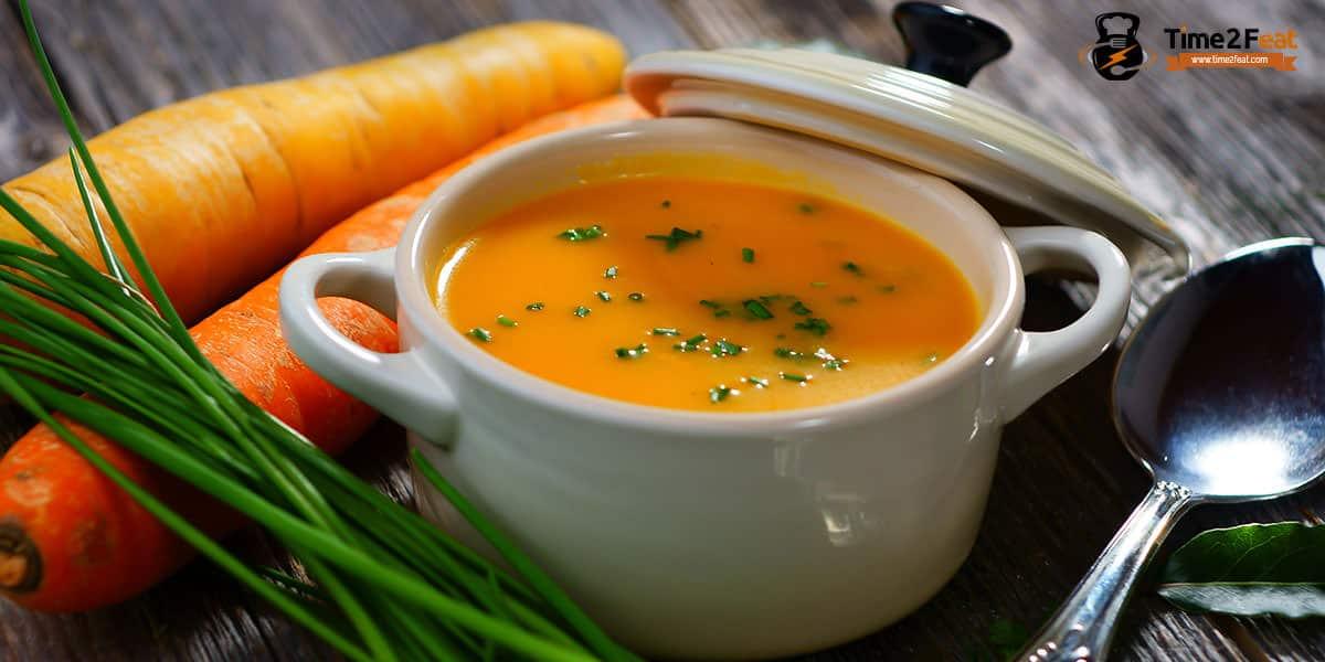 cenas ligeras rapidas saludables recetas sopa zanahoria brocoli