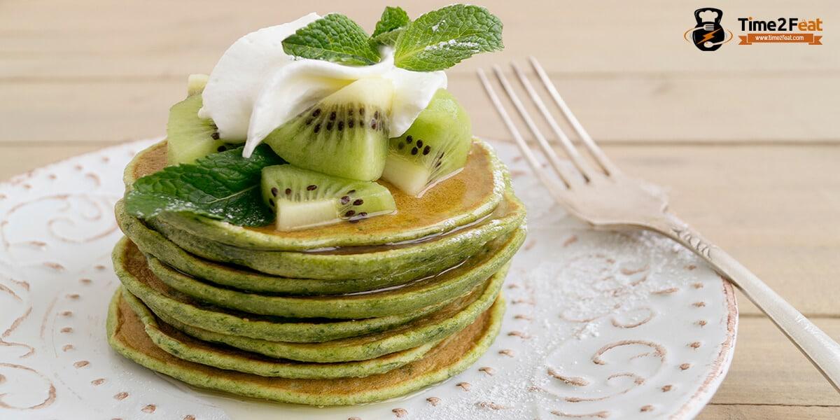 receta tortitas de avena kiwi yogur