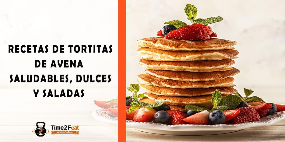 receta tortitas de avena saludables fitness