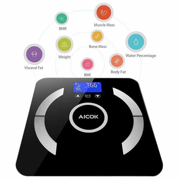 calcular masa grasa corporal basculas electronicas analisis corporal bioimpedancia aikok
