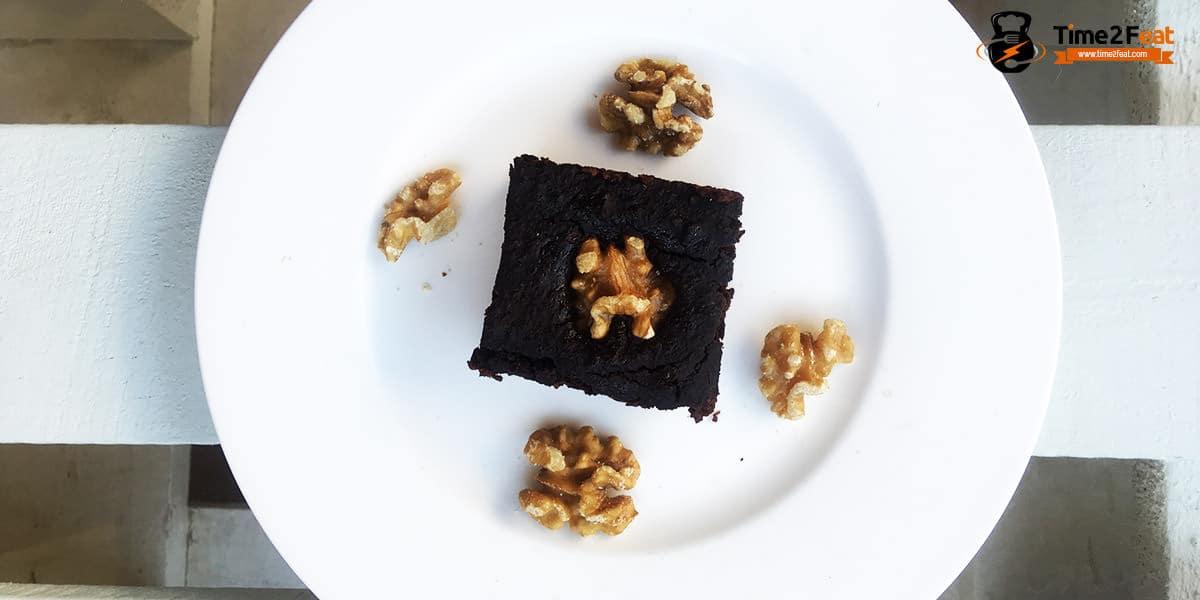 receta brownie calabaza chocolate nueces saludable