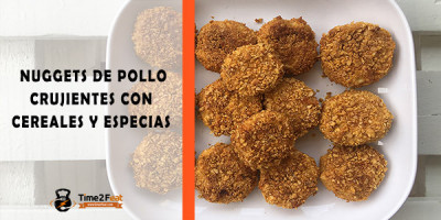 receta nuggets pollo cereales saludables