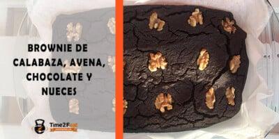 receta brownie calabaza avena chocolate nueces saludable
