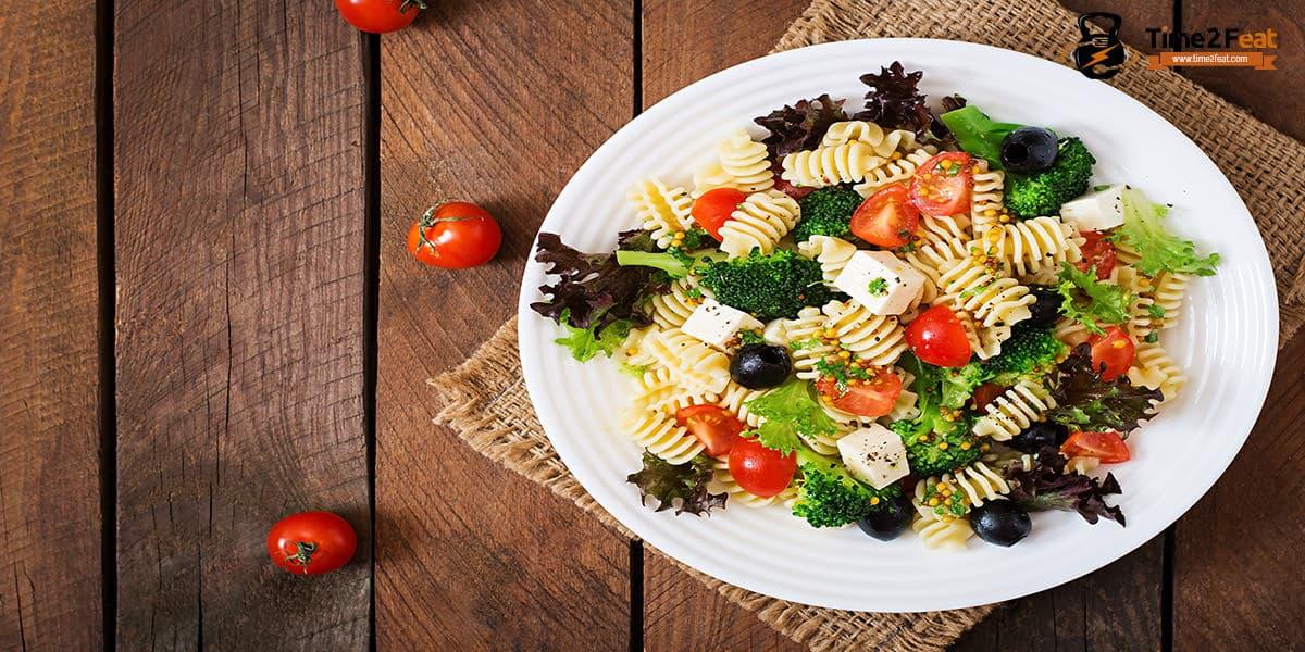 recetas playa saludables ensalada pasta vegetales
