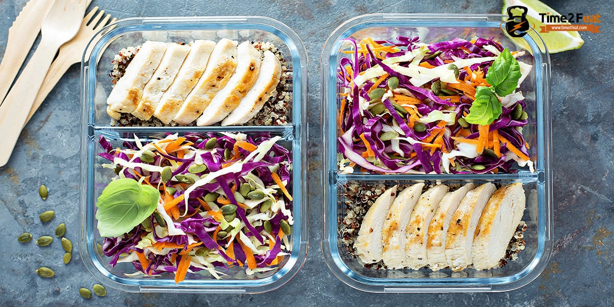 recetas playa saludables ensalada quinoa lombarda zanahoria pollo plancha