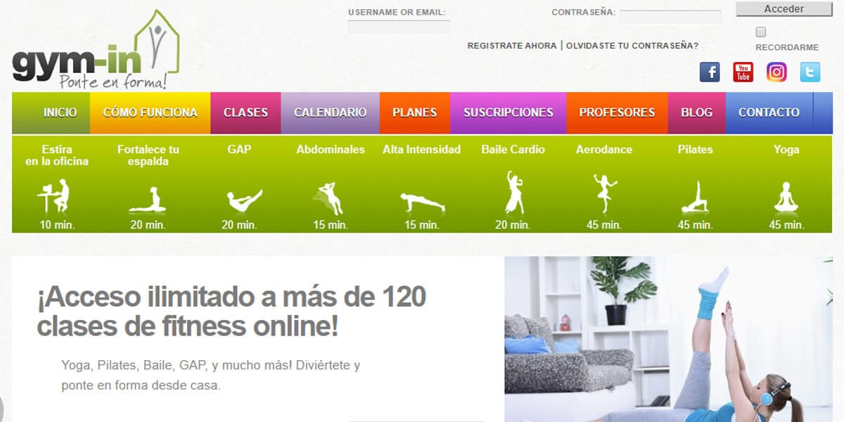 mejor gimnasio online gym virtual entrenar en casa gym in