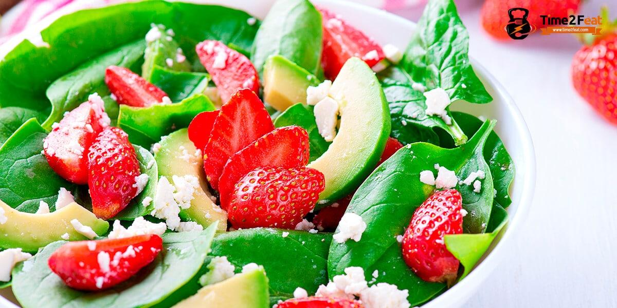 recetas ensaladas espinacas aguacate verano