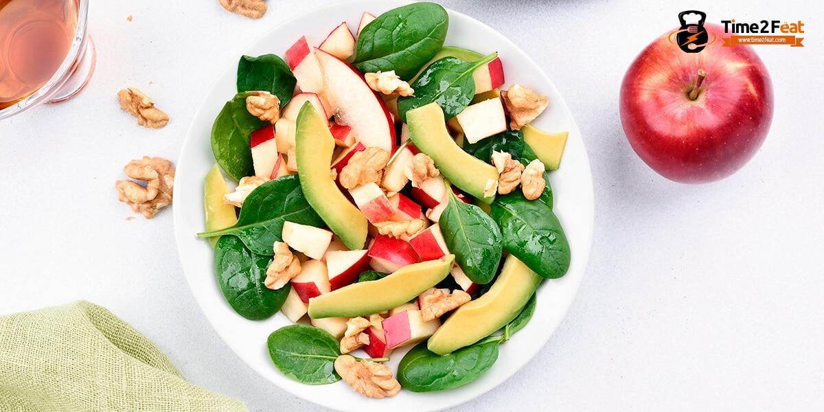 recetas ensaladas espinacas manzana verano
