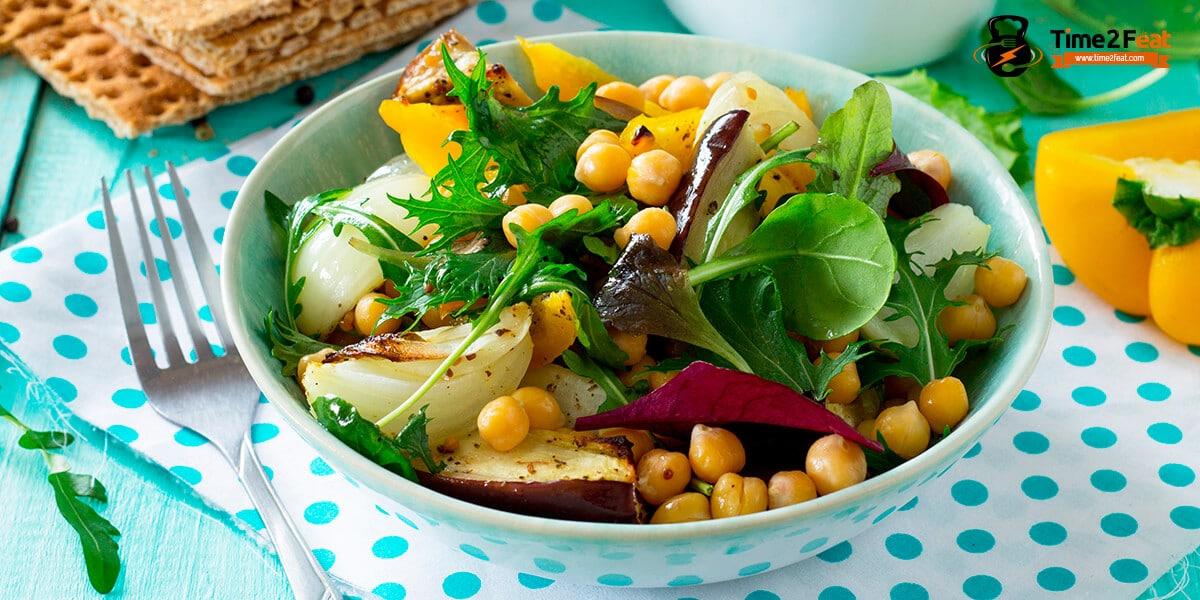 recetas ensaladas legumbres garbanzos verano