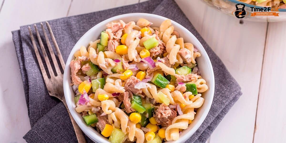 recetas ensaladas pasta atun verano