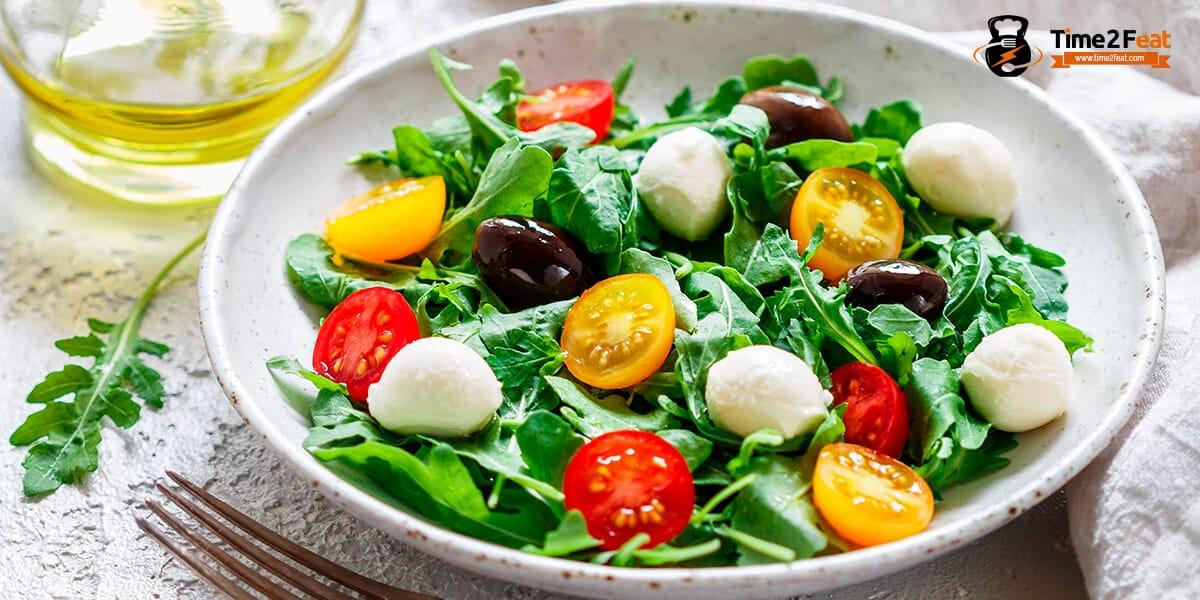 recetas ensaladas rucula mozzarela verano