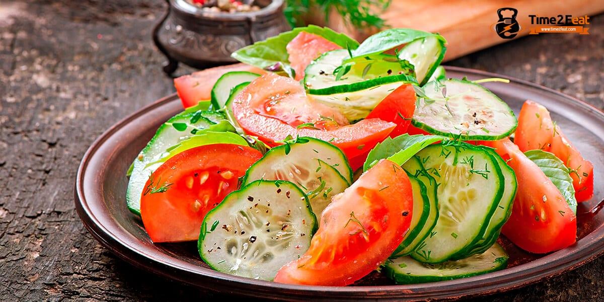 recetas ensaladas tomate pepino verano
