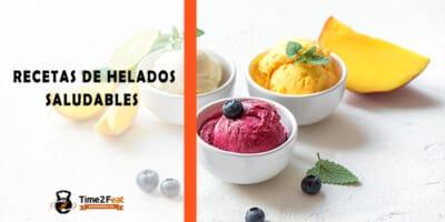 recetas helados saludables
