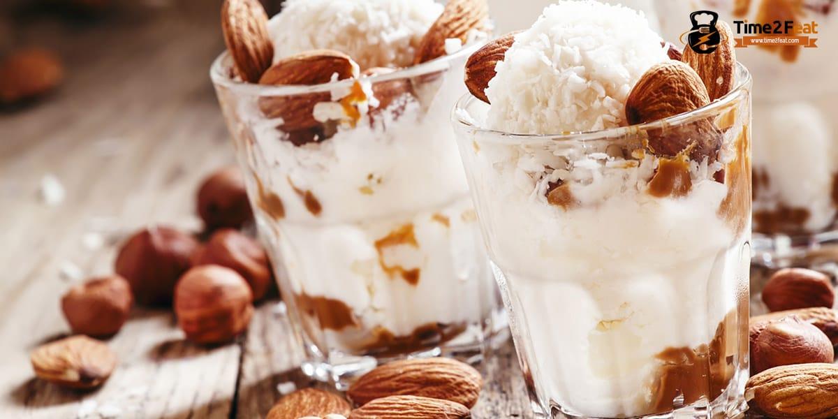 recetas helados salusables yogur almendras miel