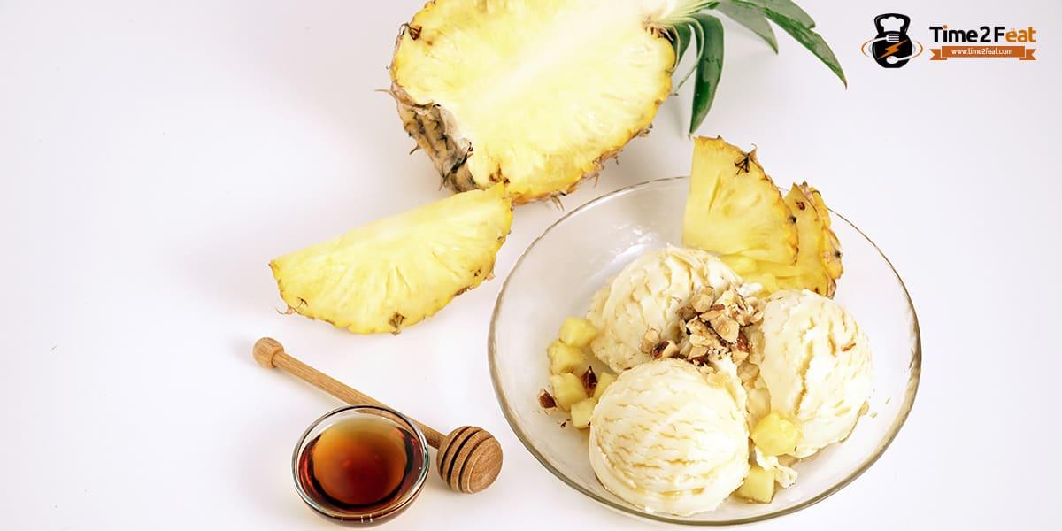 recetas helados salusables yogur piña nueces miel