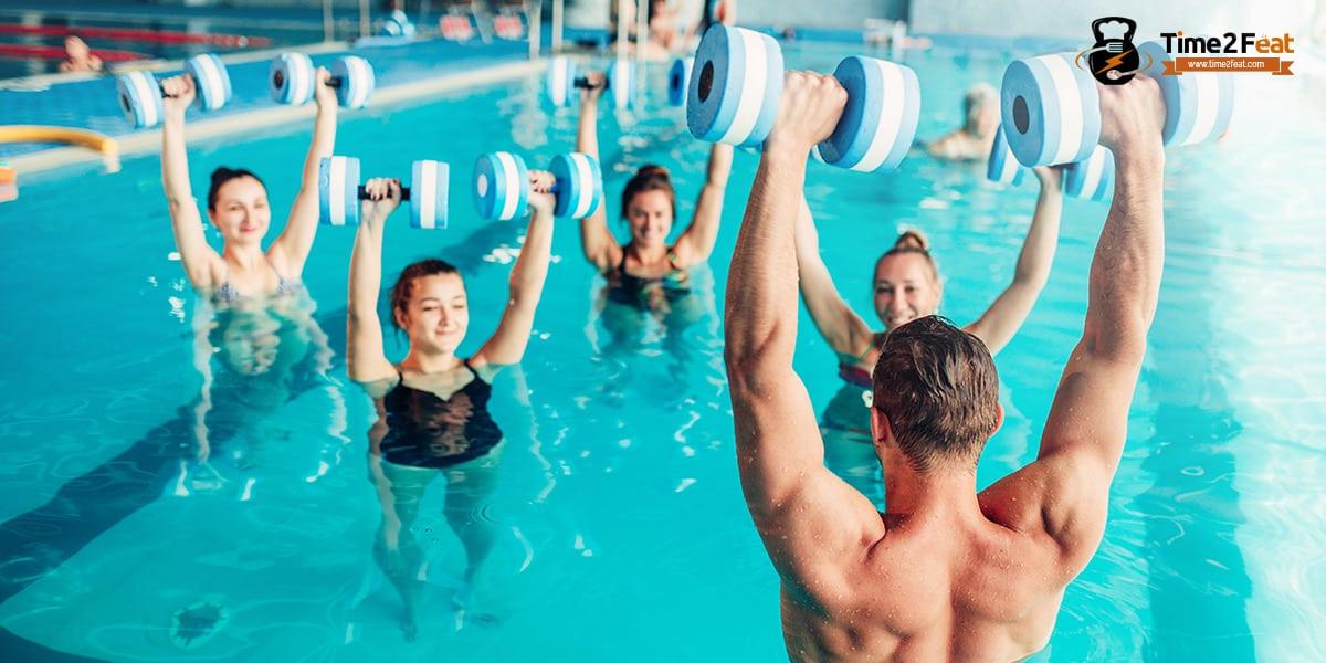 mejores clases colectivas gimnasio en grupo ejercicio entrenamiento efectivas aquagym aquaerobic